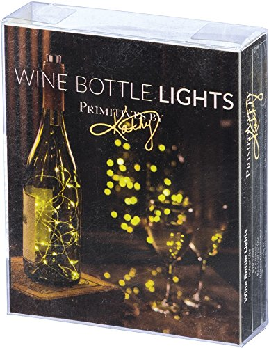 Primitives by Kathy 15 LED Wine Bottle String Fairy Lights, 6-Hour Timer