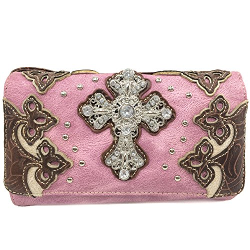Pink Rhinestone Cross - 4