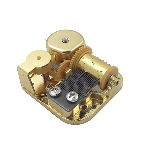 Helen Zora 18 Note Windup Gold Plating Clockwork Mechanism DIY Music Box Movement Many Songs for Choose