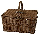 Seaside Cape Cod Wicker Picnic Basket by Twine