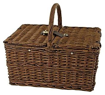 Seaside Cape Cod Wicker Picnic Basket by Twine