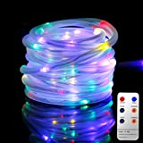 Led Rope Lights, 10M Tube Lights with 8 Modes, Waterproof Strip Lights with 136 LEDs, String Lights Mains Powered for Christmas Decorations, Tree Wedding Party Path Garden Patio Outdoor Halloween Decoration by Malivent(Multicolored)