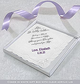 Lillian Rose Dad Wedding Gift White Cotton Keepsake Hankie