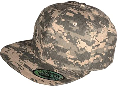 New Digital Camo Camouflage Flat Bill Snapback Hat - Baseball Cap