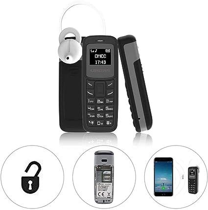 L8STAR El mini teléfono móvil más pequeño del mundo admite tarjeta SIM dual compatible con GSM 2G/3G/4G Sim BM30 (negro): Amazon.es: Electrónica