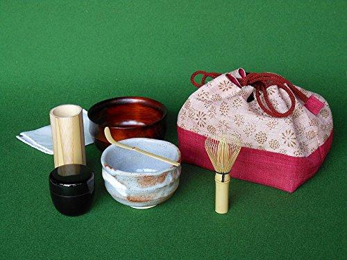 アウトドアでも抹茶が楽しめる携帯用茶道具セット 「お茶ごころ」茶道具セットB B01KUSRARW