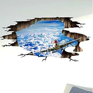 Rumas 3d puente suelo/pared adhesivo extraíble Mural adhesivos vinilo arte salón Decors
