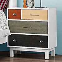 Coaster 400792 Home Furnishings Night Stand, Ebony/Sage/Cherry/Maple/White