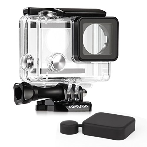 SOONSUN Standard Protective Waterproof Dive Housing Case for GoPro Hero 4 3+ 3 Camera - Underwater 40 - Case Camera Housing