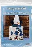 "Mary Maxim Snowman Plastic Canvas Tissue Box Kit 5"""