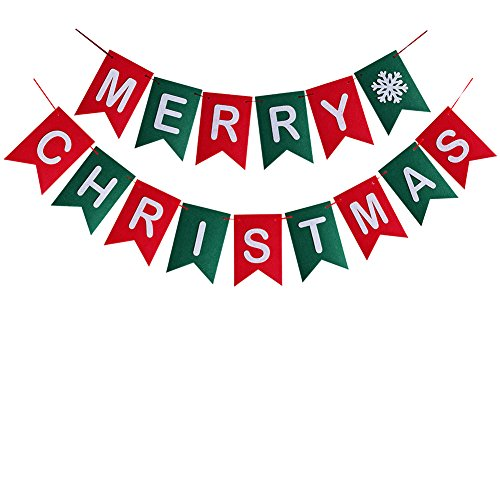Check Out This Merry Christmas Banner Christmas Party Garland Bunting Sign For Holiday Party Decorat...