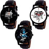 Briota Blue Color Dial Party Wear Watches for Boys & Men (God-BR-93) Pack of 3