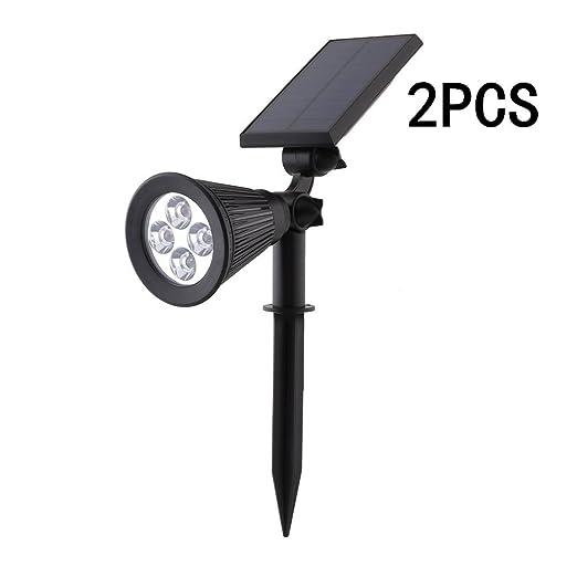 MVPower 2 W LED Proyector Lámpara solar a estaca foco Spotlight ...