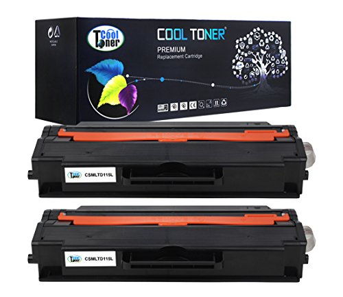 Cool Toner 2 Pack 3,000 Pages Compatible Toner Cartridge Replaces Samsung 115L MLT-D115L MLTD115L MLT D115L Used For SL-M2620 SL-2620ND SL-2820DW SL-2820ND SL-M2670FN SL-2670N SL-2870FD SL-2870FW