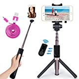 NOVASAT Selfie Stick Bluetooth Monopod with Foldable Tripod Stand and Remote Control Extendable Aluminum Alloy 360 Rotation Phone Holder for iPhone 6s Plus 7 Plus Samsung s7 Edge Reviews