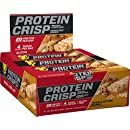 BSN Protein Crisp Bar by Syntha-6, Low Sugar Meal Replacement Whey Protein Bar, 20g of Protein, Peanut Butter Crunch, 12 Count (Packaging may vary)