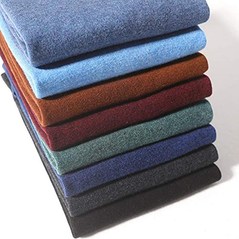 Wenwenma kaszmir męski sweter z dekoltem w serek (wielokolorowy opcjonalnie): Odzież