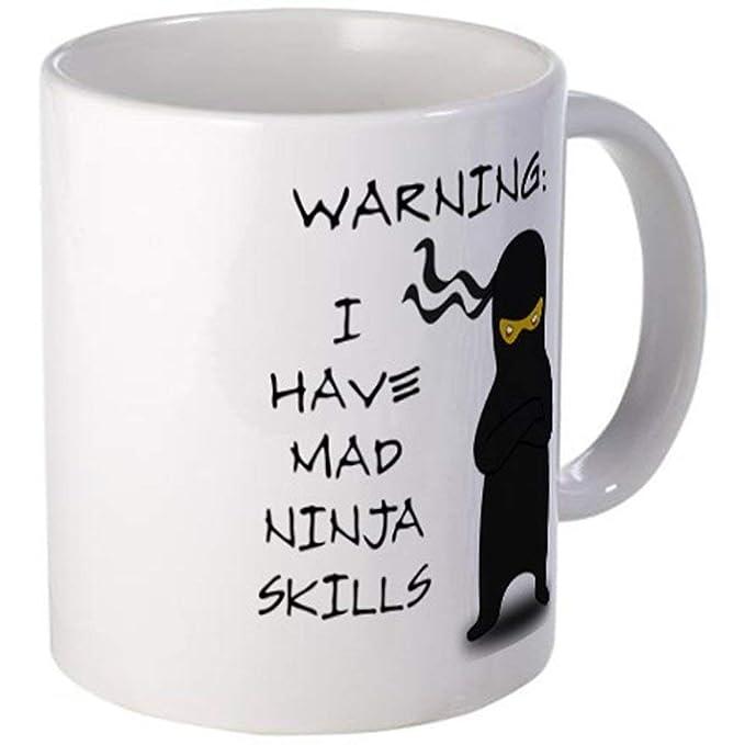11 ounce Mug - Mad Ninja Skills Mug - S White