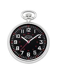 Gotham Men's Silver-Tone Mechanical Hand Wind Railroad Pocket Watch # GWC14100SB