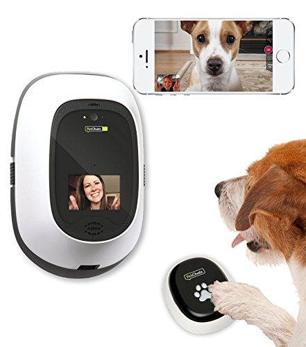 PetChatz HD & PawCall Bundle: Two-Way Audio/Video Pet Treat Camera w/ DOGTV, Brain Games, Recording, Scents, Motion/Sound Detection, and Call Mode by PetChatz