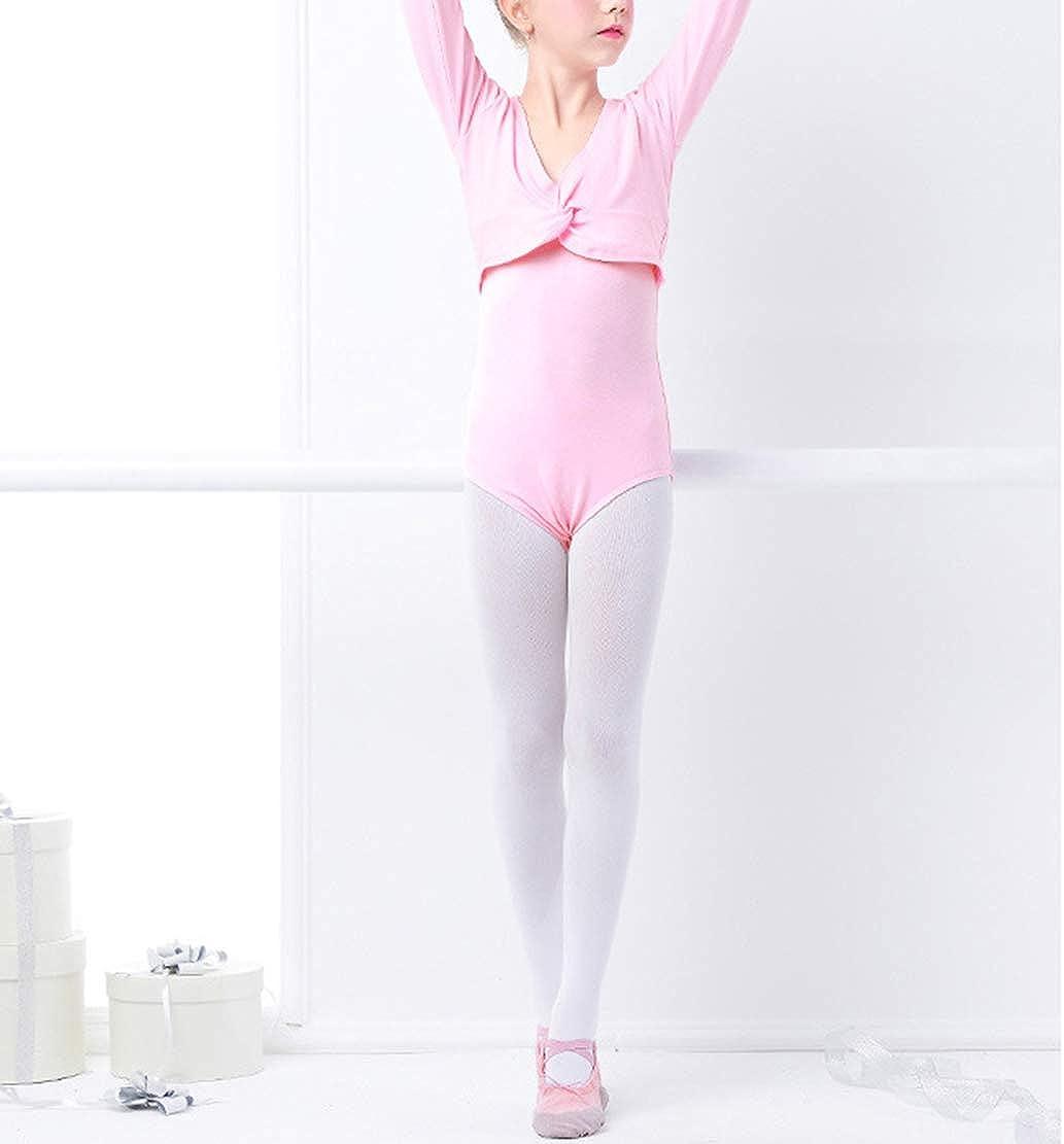 CacheCoeur de Danse Coton Veste de Ballet Manches Longues Bol/éro de Danse Classique Haut Cardigan de Danse pour Enfant Fille