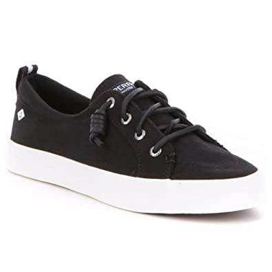Sperry Top-Sider Women's Crest Vibe Washed Linen Black Oxford