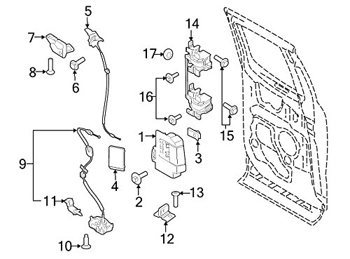 Ford OEM Door Latch Assembly FL3Z18264A01A Image 5