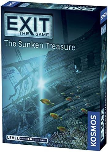 [해외]Thames & Kosmos 엑시트: 신비의 박물관 멀티 플레이어 게임 / Exit: The Sunken Treasure | Exit: The Game - A Kosmos Game | Family-Friendly, Card-Based at-Home Escape Room Experience for 1 to 4 Players, Ages 10+
