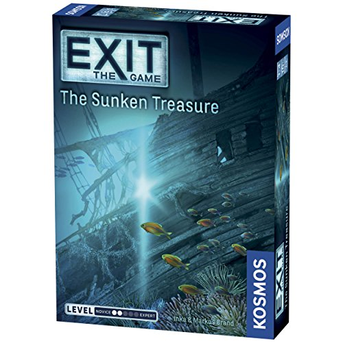 Exit: The Sunken Treasure | Exit: The Game - A Kosmos Game | Family-Friendly, Card-Based at-Home Escape Room Experience for 1 to 4 Players, Ages 10+]()