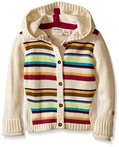 Roxy Striped Sweatshirt (Roxy Baby-Girls Pom Sweater, Bleached Sand, 18 Months)
