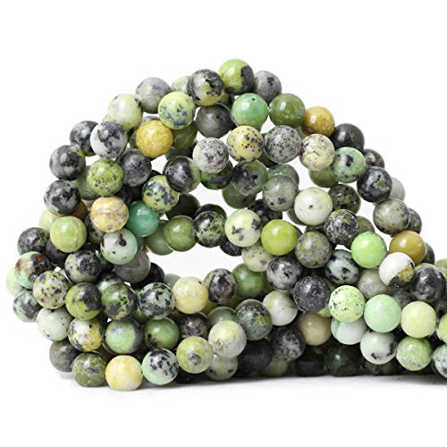 CHEAVIAN 45PCS 8mm Natural Australian Jade Gemstone Round Loose Beads for Jewelry Making DIY Handmade Materials 1 Strand 15