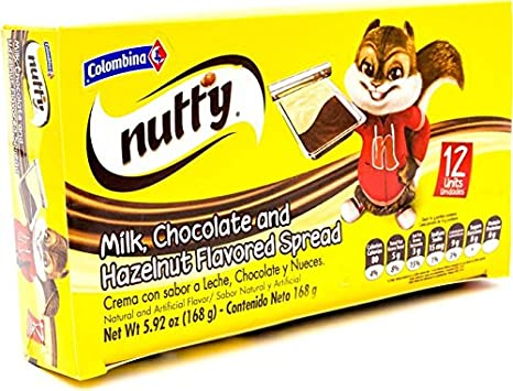 Amazon.com : Colombina Nutty Milk Chocolate & Hazelnut Spread, 4.23 Ounce : Grocery & Gourmet Food