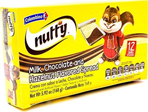 Amazon.com : Colombina Nutty Milk Chocolate & Hazelnut Spread, 4.23 Ounce : Grocery & Gourmet Food