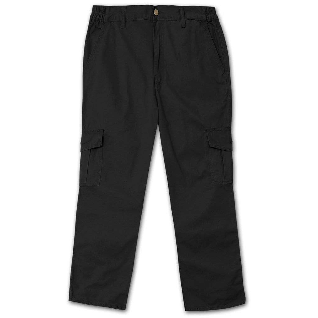 Full Blue Side Elastic Big and Tall Cargo Pant