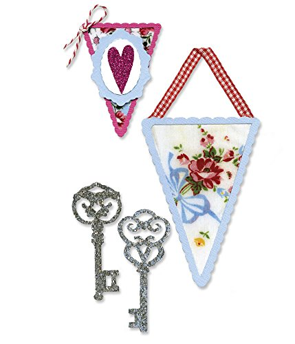 (Sizzix Sizzlits Die Set 3PK - Banners & Keys Set by Scrappy Cat)