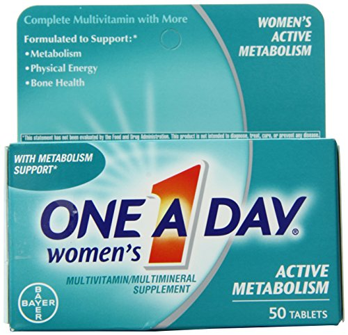 Один-A-Day Женская активный обмен веществ Полное поливитаминные таблетки, 50 граф