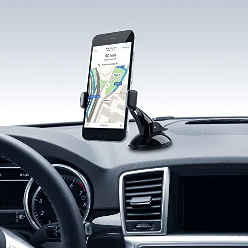 Dash or Windshield GPS Cradle Car Mount Holder for Samsung Galaxy S8 S7 Edge, Note 8 5 and More w/ Anti-Vibration Lock Mechanism (use with Sales
