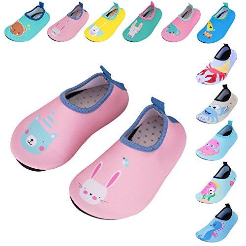 0ade3f3506e3 Caitin Kids Slippers Swim Water Shoes Barefoot Aqua Socks for Girls Boys  Beach Pool Surfing Yoga