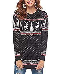 Avernon Unisex 2018 Long Sleeve Crewneck Christmas Sweater Jumper Top Pullover