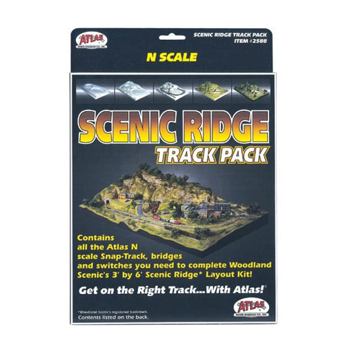 N Code 80 Scenic Ridge Track Pack Atlas Trains (Ridge Track Scenic)