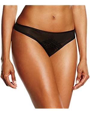 Women's Super Sexy Flocked Mesh Thong