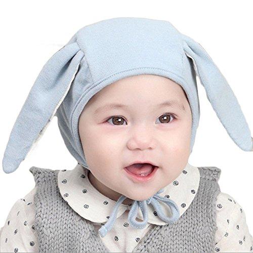 RUEWEY Baby Girl Boy Winter Warm Spring Cute Cotton Hat Beanie Cap Earcap (Blue)