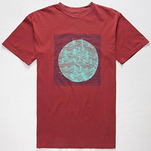 O'Neill Mens Trails Short-Sleeve Shirt, Deep Red, Large