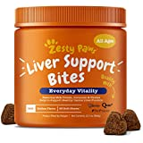 Zesty Paws Liver & Kidney Support Supplement for Dogs - with Milk Thistle Extract, Turmeric Curcumin, Cranberry & Choline - Natural & Grain Free Soft Chew Formula - for Dog Liver Function & Detox