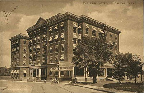 Street View of the Park Hotel Dallas, Texas Original Vintage Postcard ()