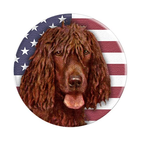 Irish Water Spaniel Dog USA Flag PopSockets Grip and Stand for Phones and Tablets 3