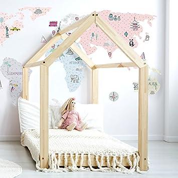 Wandtattoo Wandaufkleber Sticker Kinderzimmer 3D XXL Rosa Weltkarte L    195x100 Cm Deko Natur Wandsticker Baby
