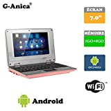 Netbook Laptop Android 4.2 HDMI écr.7 (Wifi-SD-MMC) 1GB RAM + 8GB ROM(Pink)