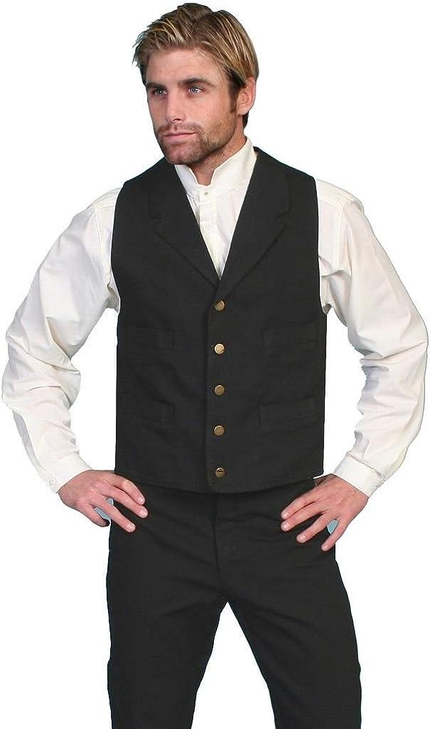 Scully 100% Cotton Canvas Vest,RW041X-BLK