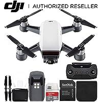 DJI Spark Quadcopter (Alpine White) + DJI Spark Remote + Bag Starter Bundle